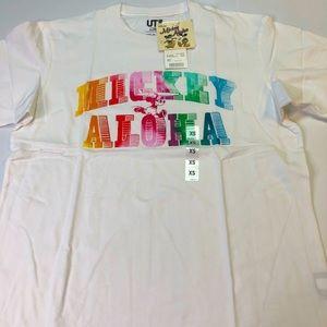 Uniqlo x Disney's Aloha Mickey Mouse XS T-Shirt